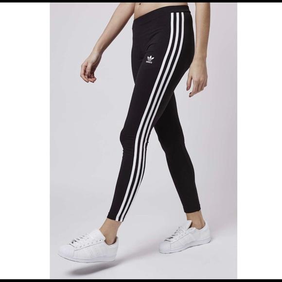 dab7592988c adidas Pants | Original Three Striped Leggings | Poshmark